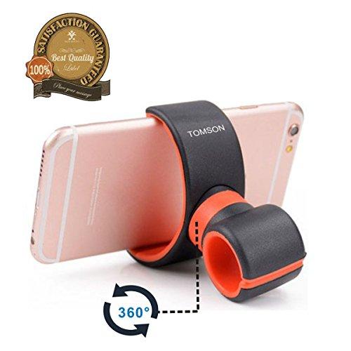Tomson multifunzione auto supporto staffa volante di aerazione auto, bicicletta Manubrio supporto supporto per cellulare, iPhone, GPS, Torcia (Black+Red)