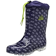 Lico Boys' Power Blinky Wellington Boots, Blue (Marine/Weiß/Lemon Marine/Weiß/Lemon), 12.5 UK Child