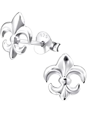 Laimons Damen-Ohrstecker Lilie fleur de lis glanz Sterling Silber 925