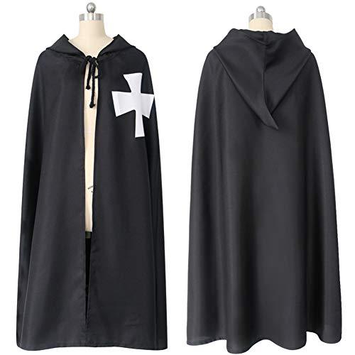 KAKAFASHION Rollenspiel Party Requisiten Templar COS Umhang Umhang Roben Spiel Kostüme Halloween Maskerade Bühnenperformance Kostüm Umhang ()
