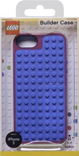 Belkin F8W283vfC01 Cover Lego per iPhone 5, Rosa/Blu Rosa/Blu