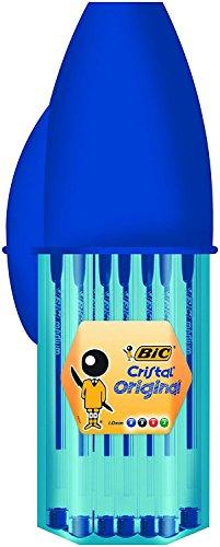 BIC Cristal Original bolígrafos punta media – colores Surtidos, Blíster de 16+4 unidades