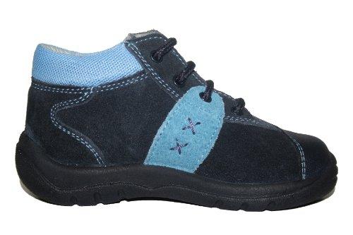 Jela , Chaussures souple pour bébé (garçon) Bleu (bleu marine/bleu clair)