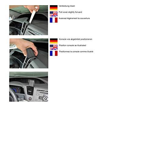 KUDA 246325 Halterung Kunstleder schwarz für Honda Civic 2012+ nur USA (Kuda Usa)