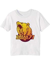 Bear tee Niños Unisexo Niño Niña Camiseta Cuello Redondo Blanco Manga Corta  Todos Los Tamaños Kids b87843cda53dc