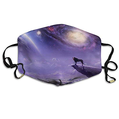 HUSDFS Mouth Maske Fantasy Planet Galaxy Lion Unisex Face Mask Ear-loop Dust Protecting Mask Cycling Reusable Mask