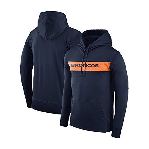 HNSweat for Denver Broncos Männer Hoodie American Football Freizeit Sweatshirt Kapuzenpulli Fans Trikot for Sport (Color : Blue 2, Size : M)