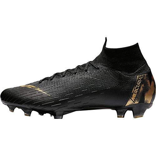 Nike Superfly 6 Elite Fg - Black/MTLC Vivid Gold, Größe:12