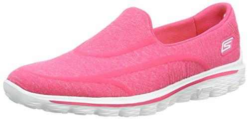 skechers-gowalk-2-supersock-baskets-mode-femme-rose-pink-40-eu