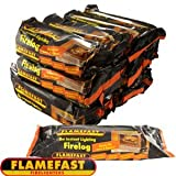 Flamefast Instant Light Smokeless Fire Logs - Case of 12 Logs
