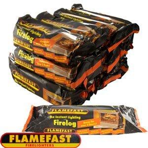 Flamefast Instant Light Smokeless Fire Logs - Case of 12 Logs