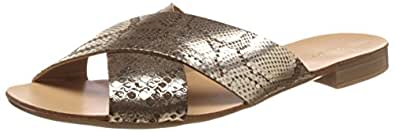 Dune Women's Jarin DI Gold Reptile Leather Fashion Sandals - 4 UK/India (37 EU)