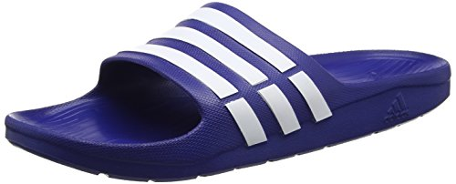 adidas Originals Duramo Slide Unisex-Erwachsene Dusch & Badeschuhe, Blau (NEW NAVY / WHITE / NEW NAVY), 37 EU (4 UK)
