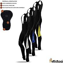 Mens ciclismo Salopette termica imbottita fredda indossare leggings invernali da uomo, Black / Yellow, S