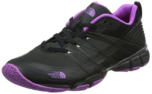 The North Face W Litewave Ampere, Zapatillas de Deporte Exterior para Mujer, Negro (TNF Black / Sweet Violet), 39 EU