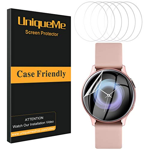 UniqueMe [6 Stück] schutzfolie für Samsung Galaxy Watch Active 2 40mm / Galaxy Watch Active 40mm Folie, Soft HD TPU Clear Displayschutz Displayschutzfolie