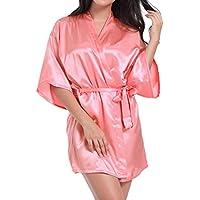 WEIMEITE Robe Kimono Toga para la Novia Dama de Honor Vestido de la Boda