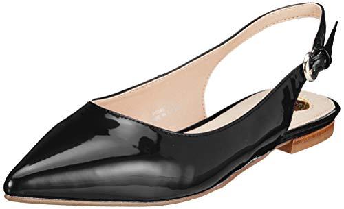 Buffalo Damen Azalia Slingback Ballerinas, Schwarz (Black 000), 39 EU (Schuhe Flache Slingback)