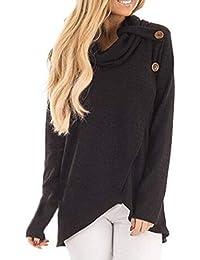Mujer Suéter Cárdigan,Sonnena ❤️ Blusa de manga larga mujer otoño invierno Sudadera Casual Sólida Blusa superior del jersey