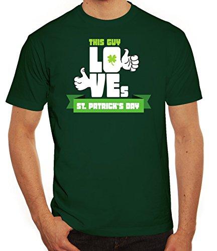 Saint Patrick´s Day St. Patricks Day Herren T-Shirt This Guy Loves St. Patrick's Day Dunkelgrün