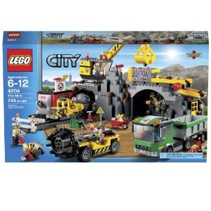Safe-Lego-City-4204-The-Mine-With-Articulated-Cab-Rotating-Cabin-Moving-Arm-And-Lowering-Shovel