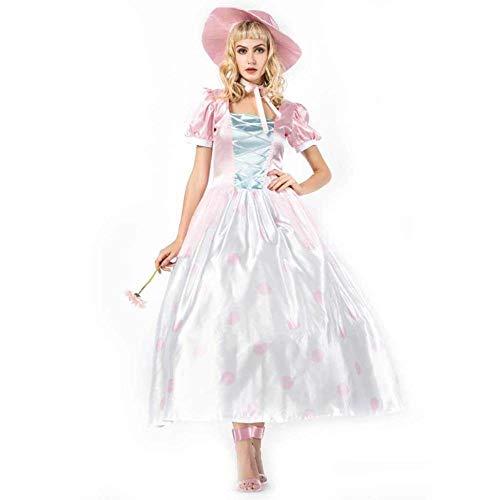 stüm Cosplay japanische Geheimnis Honig mit Kappe Spielzeug Geschichten Kurze Ärmel Kleid Halloween Gericht Kleid ()