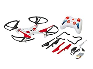 Revell Funtic Bind-N-Fly (BNF) Motor eléctrico - helicópteros Radio Control (RC) (Quadcopter, Bind-N-Fly (BNF), Motor eléctrico, Collective Pitch, Gris, Rojo, Color Blanco, Polímero de Litio)