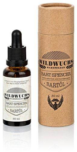 Wildwuchs Bartpflege Bartöl Bart Spencer Arganöl natürlich vegan (1 x 30 ml)