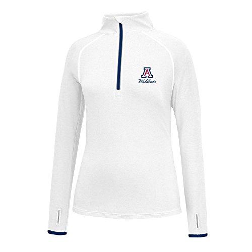 J America NCAA Frauen 'S Script Logo Power Durch Poly 1/2Zip Jacke, Damen, Power Through 1/2 Zip, Arizona Wildcats, XX-Large
