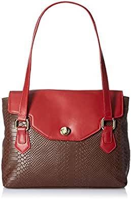 Hidesign Ginza 02 Women's Tote Bag Large (Brown and Red)