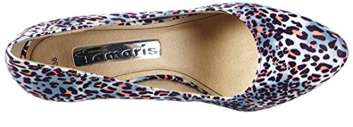 Tamaris22485 - Scarpe con Tacco Donna Multicolore (Mehrfarbig (PURPLE LEO 534))