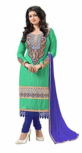 Khushali Women Chicken Karachi Unstitched Salwar Suit (Rama Green)