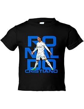 Camiseta niño Cristiano Ronaldo Siuu caricatura