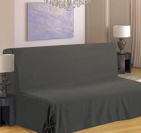 Homemaison HM69516-59 Clic Clac Housse de Canapé à Nouette Polyester Gris Clair 37 x 26 cm