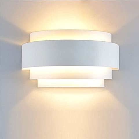 Unimall LED Wall Lights Up Down 5W Decorative E27 Lamp Wall Sconce Lights Perfect for Living Room Bedroom Lamps Corridor Wall Lights LED Wall Lighting, Warm White (Bulb Included)