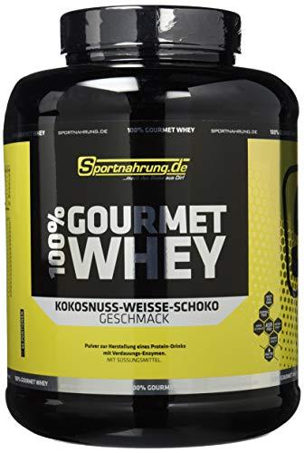 Sportnahrung.de 100% Gourmet Whey - hochwertiges leckeres Protein mit wichtigen Aminosäuren und MCT Weiße Schoko-Kokosnuss, 2000 g