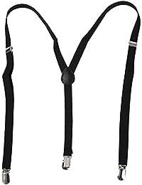 REFURBISHHOUSE Negro Tirantes pantalones de correa liga elastica de espalda Y ajustable para senora