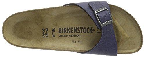 Birkenstock Madrid Birko-Flor, Mules Femme Bleu (Pull Up Navy)
