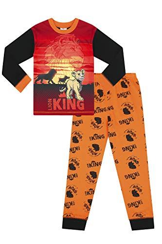 Pijama Largo Unisex de Disney Lion King para niñas Negro Negro (5-6 Años