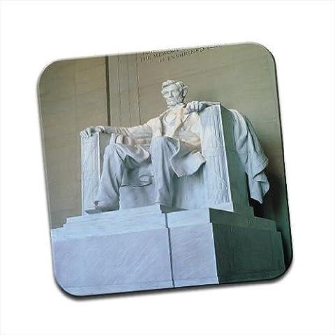 Abraham Lincoln Monument Washington simple Premium Glossy Sous-verre en bois