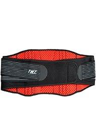 Deportes Protección de cintura Cinturón Caliente Levantamiento de pesas Básquetbol Equipo de protección ( Color : Rojo )