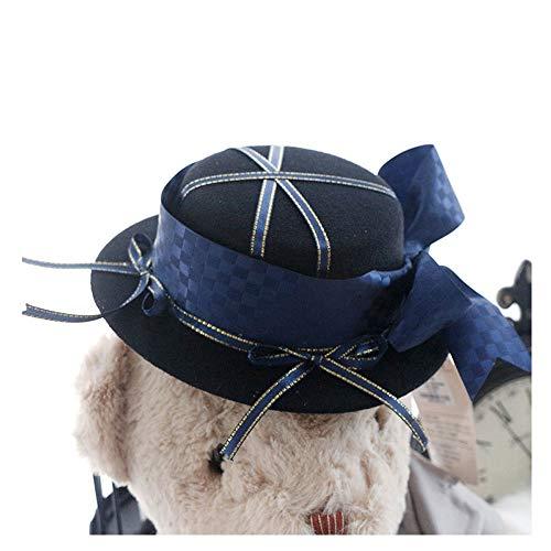 Kostüm Kopfbedeckung Base - MADONG Zylinder Frau Mini Zylinder Cinderella Original Lolita Base Hut Kleiner Hut Base Hut Hut Zubehör Hut (Farbe : Schwarz, Größe : 28-30cm)