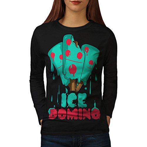 wellcoda Eis Domino Frau M Langarm T-Shirt
