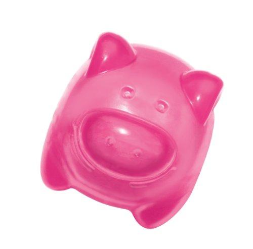 Kong Squeezz Jels Pig Quietschgeräusche Hundespielzeug, mittel (Farben variieren) (Schwein Hundespielzeug Kong)