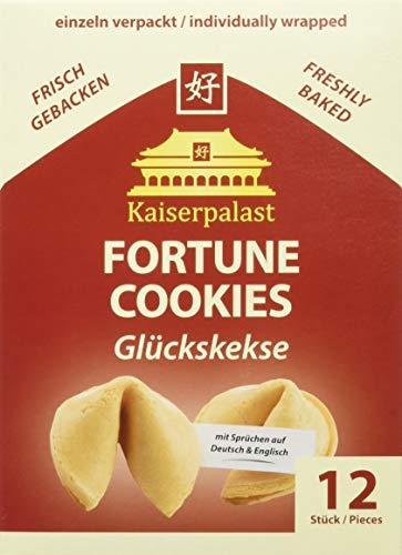 Kaiserpalast Glückskekse, einzeln verpackt rote Folie, 1 Pack (12 Glückskekse)