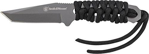 Smith & Wesson Unisex– Erwachsene Smith&Wesson Neck Knife Taschenmesser schwarz one Size