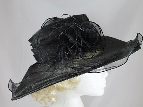 Hawkins Collection Grand bord pliable Hat Noir - Noir