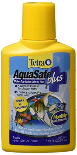 Tetra 16276 AquaSafe Water Conditioner with BioExtract, 1 69-Ounce  (Packaging may vary)