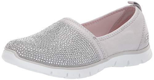 Skechers Damen Ez Flex Renew-Shimmer Show Slip On Sneaker, Grau (Light Grey Silver Lgsl), 37 EU Skechers Slip-on Sneaker