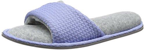 Dearfoams - Slide, Pantofole Donna Blue (Iceberg)
